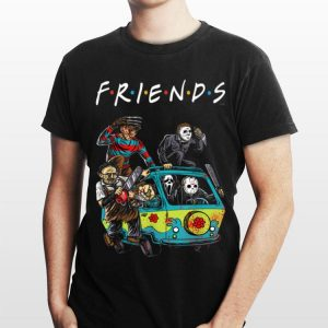 Michael Myers Friends In Bus With Horror Character shirt