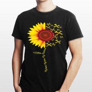 My Heart My Hero My Mechanic Sunflower shirt