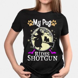 My Pug Rides Shotgun Halloween shirt