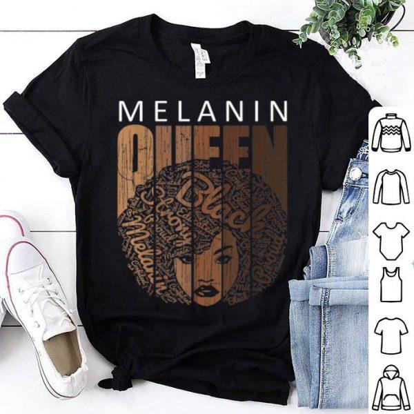 Natural Afro Melanin Queen African American shirt