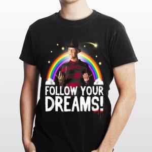 Nightmare Elm Street Follow Your Dreams Rainbow Halloween shirt