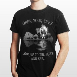 Open Your Eyes Look Up To The Skies And See Guitar Lake Freddie Mercury shirt