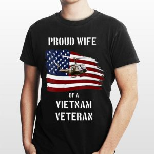 Proud Wife of a Vietnam Veteran Air Force America Flag shirt