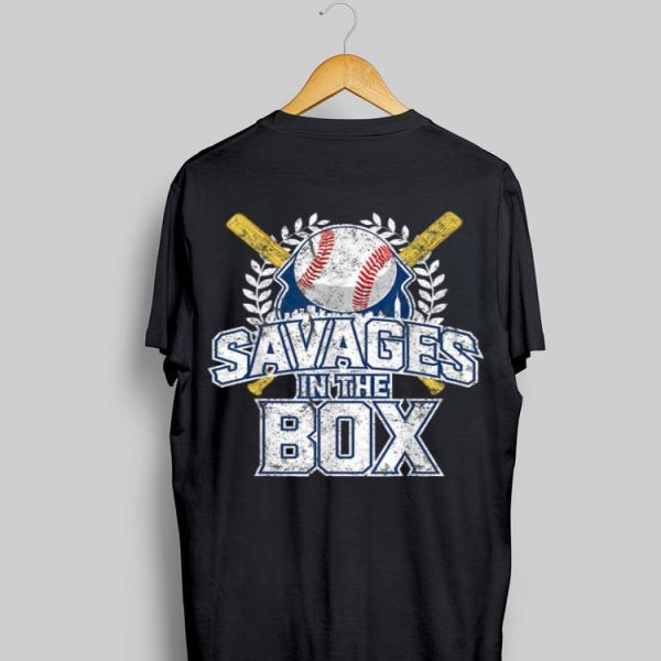 Savages In The Box Baseball shirt