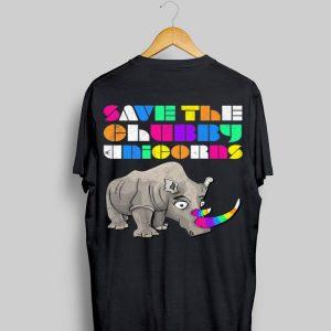 Save The Chubby Unicorns Rainbow shirt