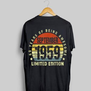 September 1959 60 Year Of Being Awesome Limited Vintage shirt