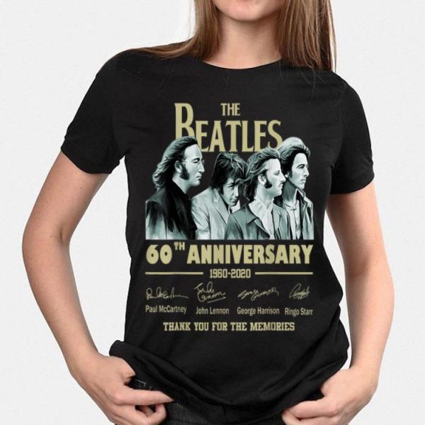 The Beatles 60th Anniversary Thank You For Memories Signature shirt