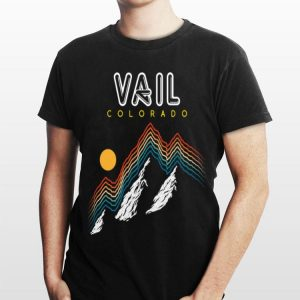 Vail Colorado USA Ski Resort 1980s shirt