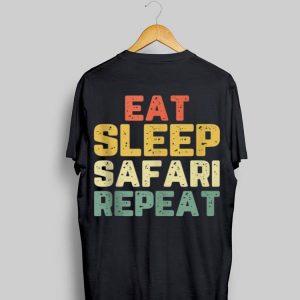Vintage Eat Sleep Safari Repeat shirt