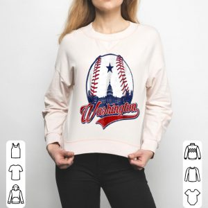 Washington Dc National Mall baseball Silhouette shirt