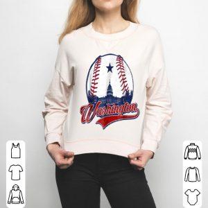 Washington Dc National Mall baseball Silhouette shirt