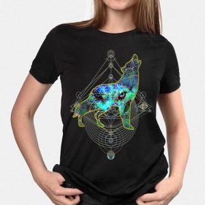 Wolf Eye Geometric Mandala Pattern shirt