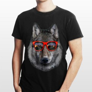 Wolf in Retro Sunglass Frame shirt
