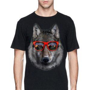 Wolf in Retro Sunglass Frame shirt