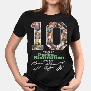 10 Years Of Parks And Recreation Signatures 2009-2019 shirt
