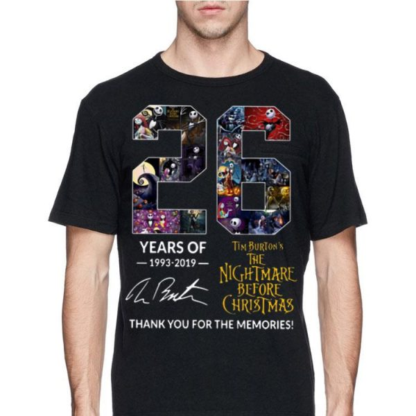 26 Years of Tim Burton's The Nightmare Before Christmas Signature shirt