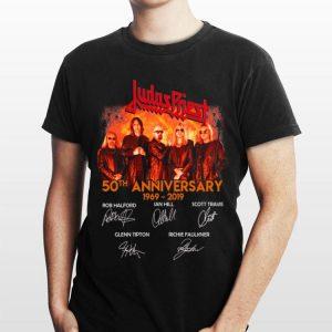 50th Anniversary 1969-2019 Signatures Judas Priest shirt