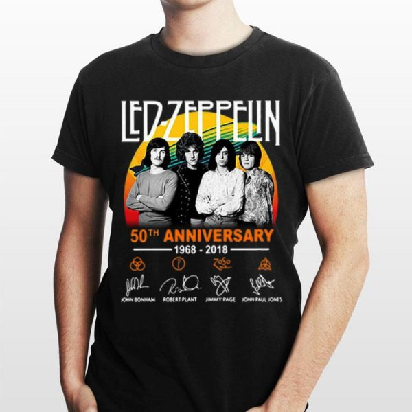 50th Anniversary Led Zeppelin 1968-2018 Signatures shirt