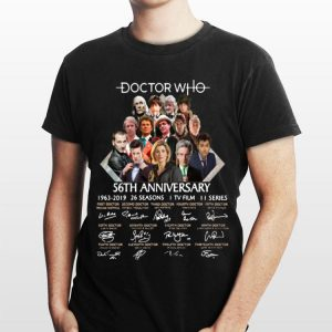 56th Anniversary 1963-2019 Doctor Who Signatures shirt