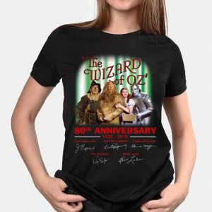 80th Anniversary 1939-2019 Signatures The Wizard of Oz shirt