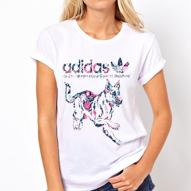ingeniero Espinas malicioso  Adidas All Day I Dream About German Shepherd shirt, hoodie, sweater,  longsleeve t-shirt