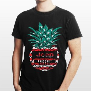 American Flag Jeep Pineapple shirt