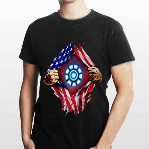 American flag Iron Man Arc Reactor shirt