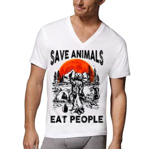 Bear Camping Save Animals Eat People Sunset shirt