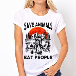 Bear Camping Save Animals Eat People Sunset shirt
