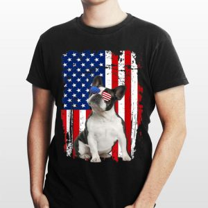 Boston Terrier American Flag 4th of July Independence Day shirt