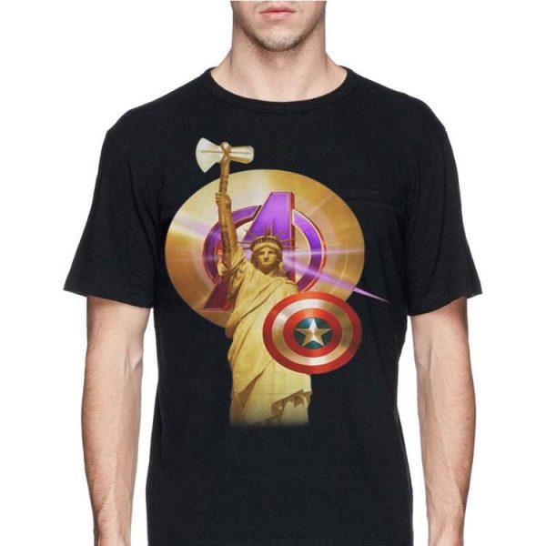 Captain America Marvel Avenger Statue Of Liberty shirt