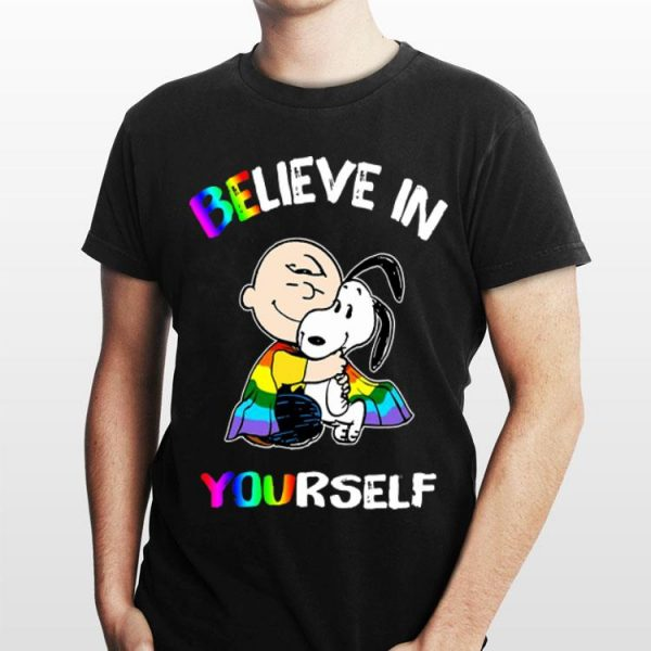 Charlie Brown And Snoopy Believe In Yourself LGBT shirt