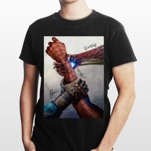 Civil War Hand Captain America Iron Man Spider Man Signatures shirt