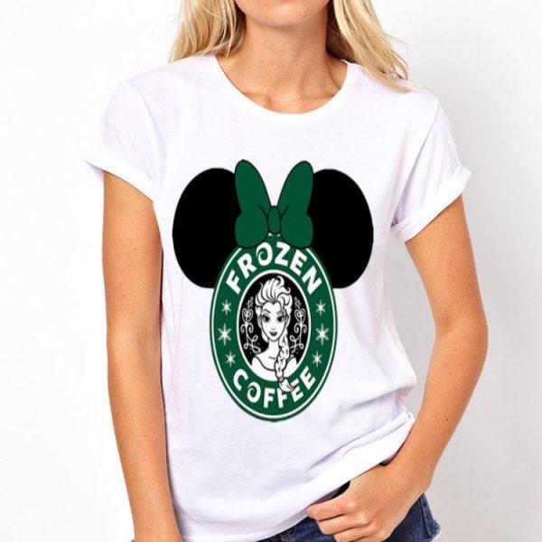Disney Minnie Mouse Frozen Coffee Starbuck shirt