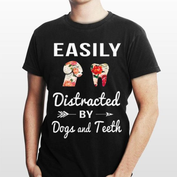 Easily Distracted by Dogs and Teeth Floral shirt