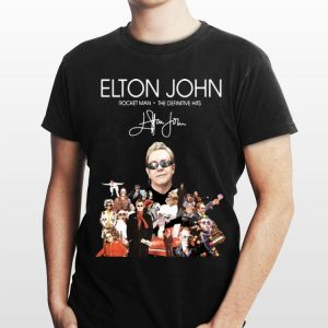 Elton John Rocket Man The Definitive Hits signature shirt