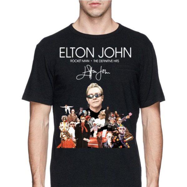 Elton John Rocket Man The Definitive Hits signature shirt