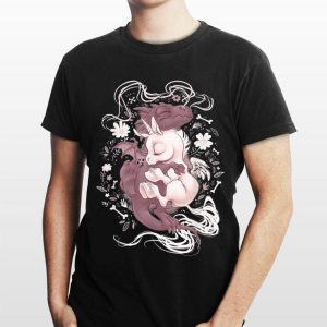 Flower Dragon Hug Baby Unicorn shirt