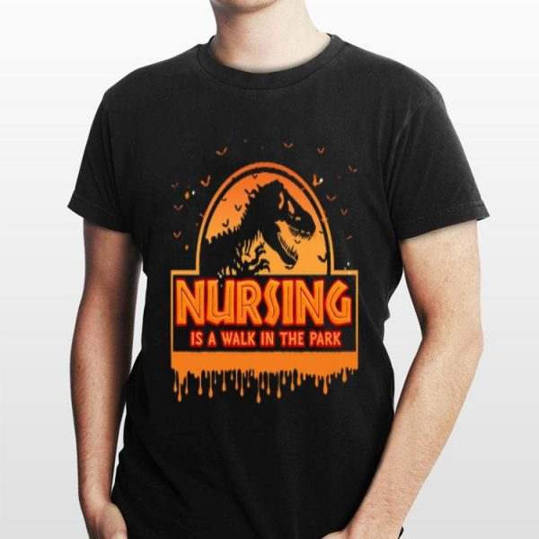 Halloween Jurassic Park Nursing Is A Walk In The Park shirt