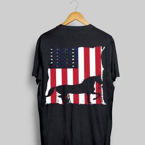 Horse American Flag shirt