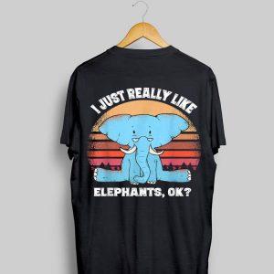 I Just Really Like Elephant Vintage shirt
