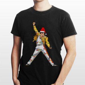 Light Christmas Freddie Mercury shirt
