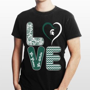 Michigan State Spartans Stacked Love shirt