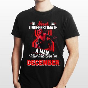 Never Underestimate A Man Who Was Born In July Marvel Spider Man shirt