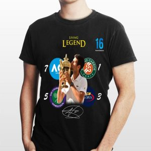 Novak Djokovic Living Legend Champion Wimbledon 2019 signature shirt