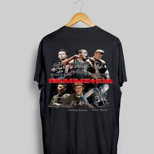 Rammstein Flake Signatures shirt
