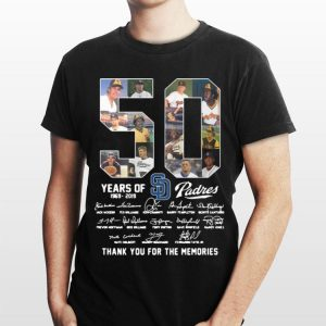 San Diego Padres 50 Years 1969-2019 Signatures shirt
