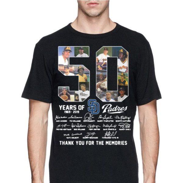 San Diego Padres 50 Years 1969-2019 Signatures shirt