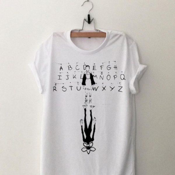 Stranger Things Eleven and Demogorgon Alphabet shirt