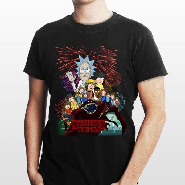 Stranger Things Rick And Morty Version shirt